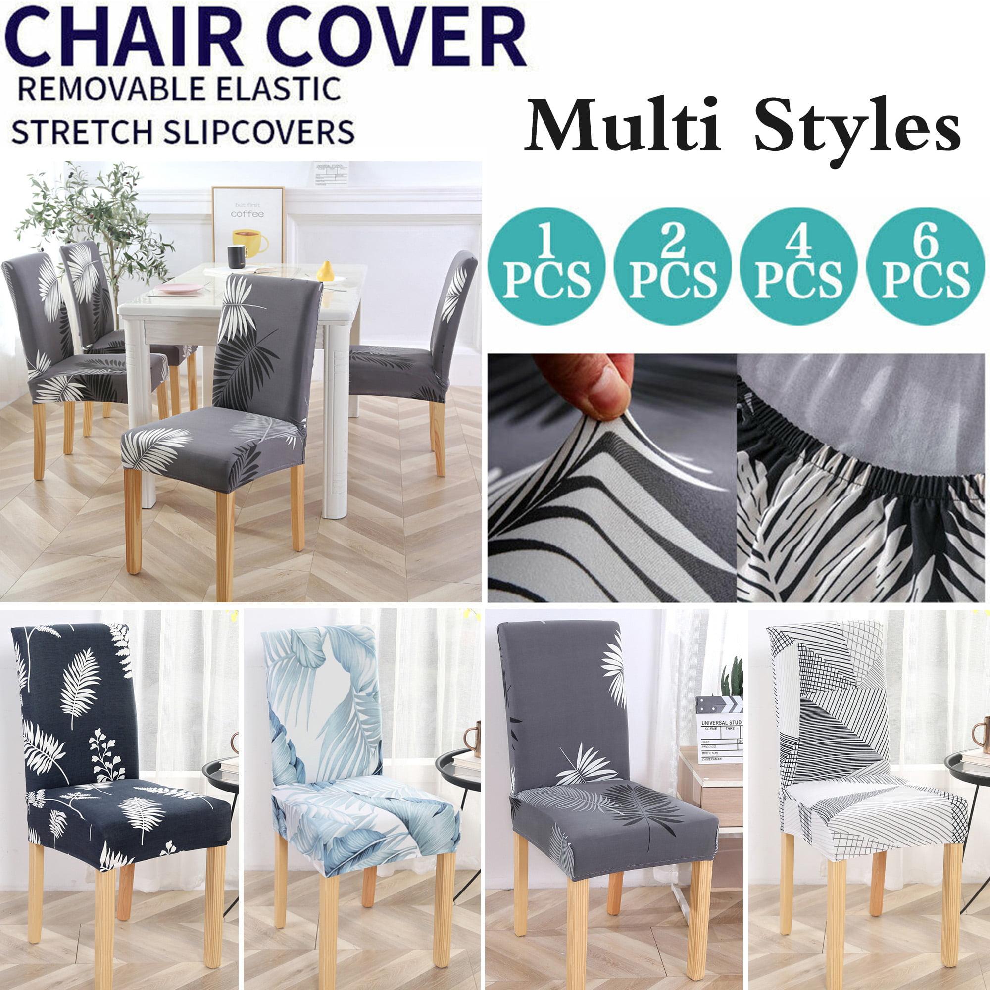 Stretch Dining Chair Covers Slipcovers Wedding Home Decor Seat Covers 1 2 4 6pcs Walmart Com Walmart Com