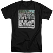 Sandlot The Great Bambino Mens Big And Tall Shirt