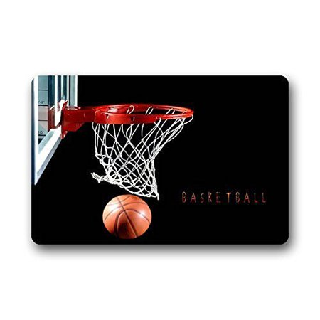 Kentucky Basketball Rug (WinHome Basketball Hoop Doormat Floor Mats Rugs Outdoors/Indoor Doormat Size 23.6x15.7 inches)