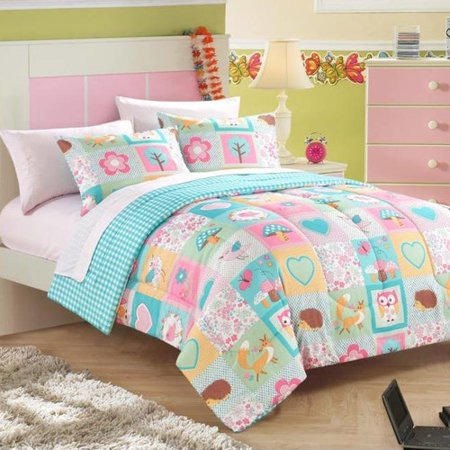 heritage kids bed in a bag toddler comforter set in woodland friends. Black Bedroom Furniture Sets. Home Design Ideas