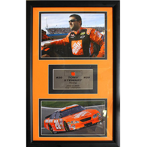 NASCAR Tony Stewart Game Used Frame, 12x18