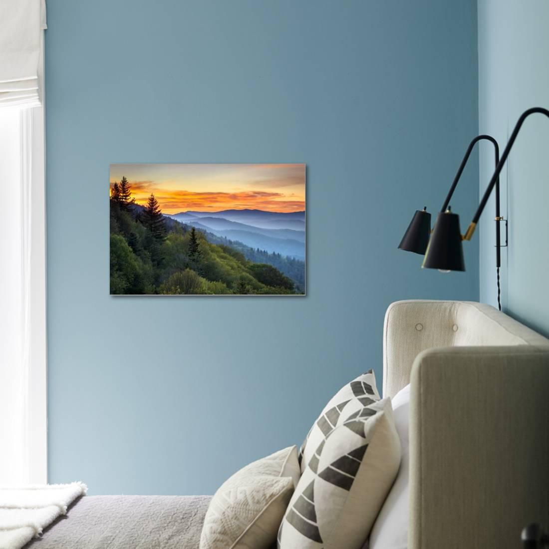Great Smoky Mountains National Park Scenic Sunrise Landscape at ...