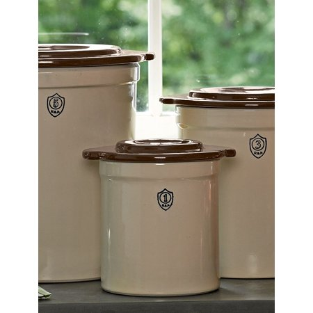 1-Gallon Stoneware Pickling Crock with Cover ()