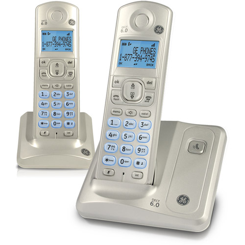 GE 28512AE2 DECT 6.0 Dual Handset Cordless Phone with Caller ID