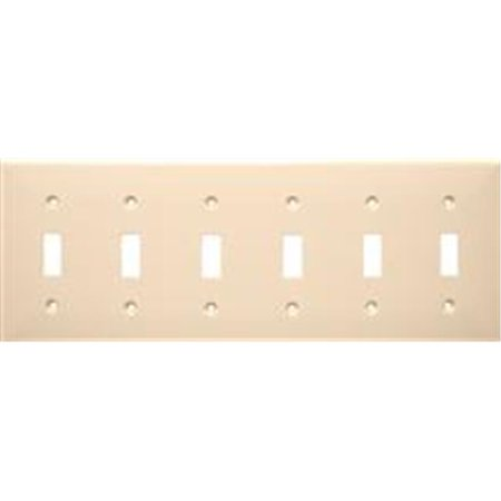 Morris Products 81062 Lexan Wall Plates 6 Gang Toggle Switch Brown - image 1 of 1