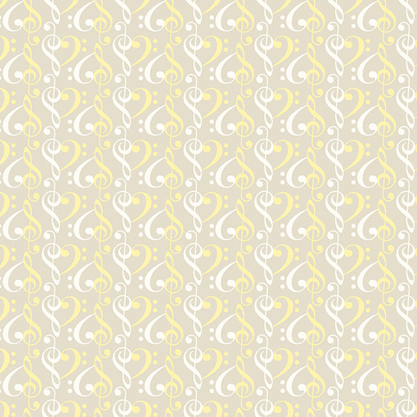 Marcus Fabrics Songbook Flannel by Laura Berringer Little Star Yellow Grey Clefs