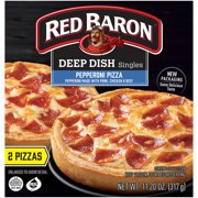 RED BARON Pizza, Deep Dish Singles Pepperoni, 2 count, 11.20 oz