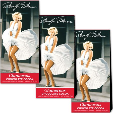 (Set/3) Marilyn Monroe Cocoa - 2.5 Oz Boxes Of Glamorous Hot Chocolate Drink ()