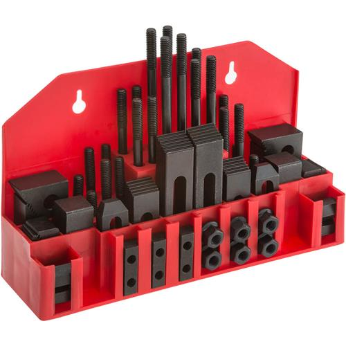 """Grizzly G1075 58 pc. Clamping Kit for 1/2"""" T-Slots"""