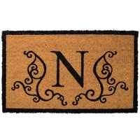 US Decor Monogram N Coir Door Mat