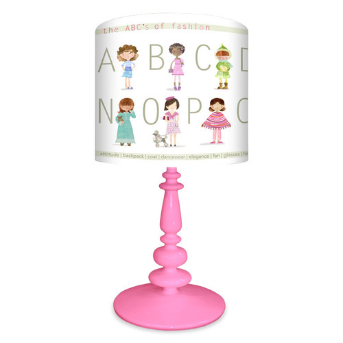 Oopsy Daisy The ABC's of Fashion 21'' H Table Lamp with Drum Shade