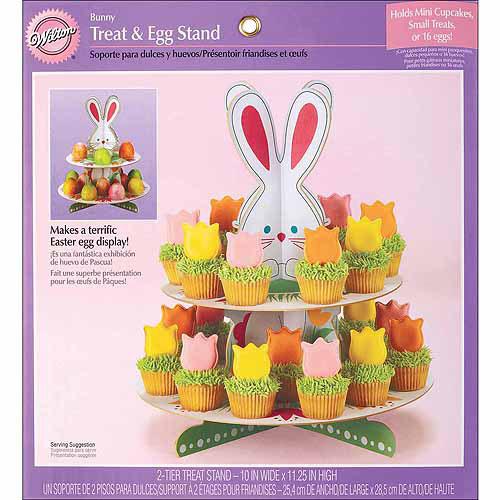 Wilton 2-Tier Corrugated Cupcake Stand, Hop 'n Tweet 1512-118