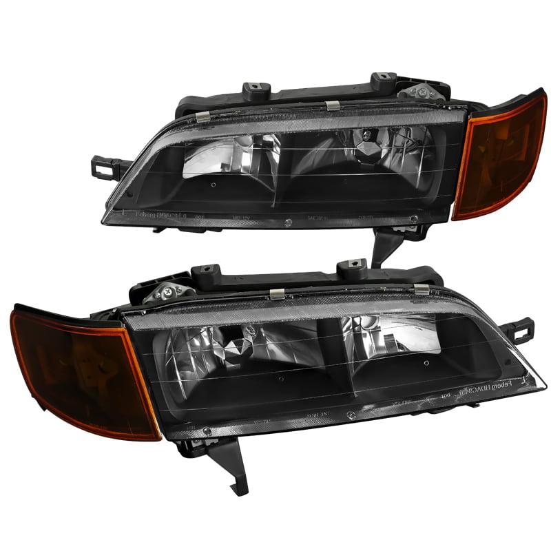 Spec-D 1994-1997 Honda Accord Jdm Black Head Lights Amber...