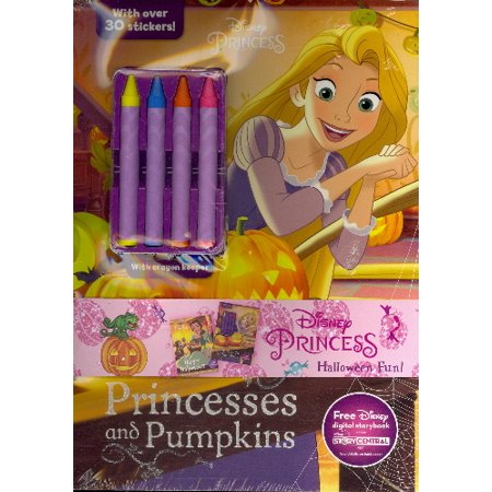 Disney Princess Halloween Fun! 2-Pack Color and Activity Books with 4 - Fun Activities For Halloween Adults