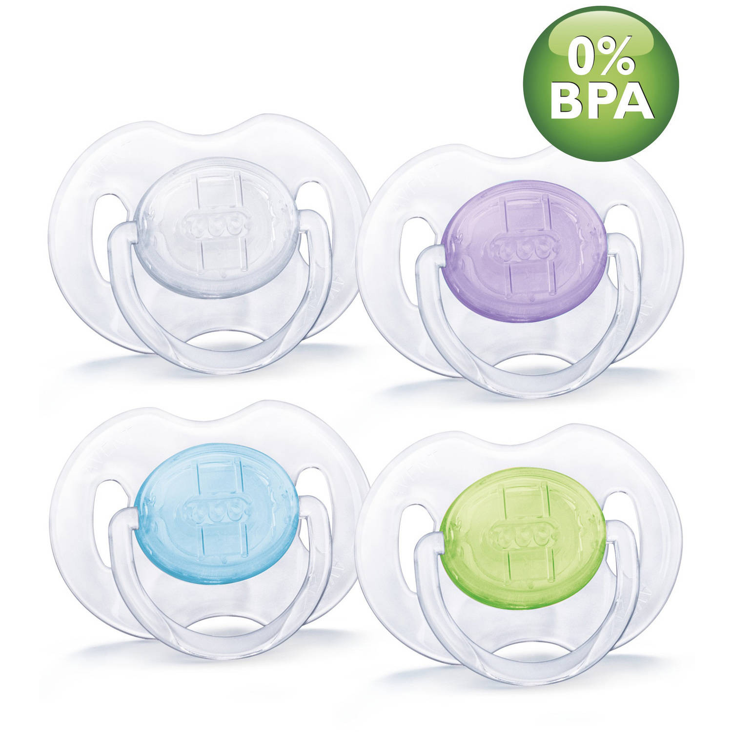 Philips Avent Classic Translucent Pacifiers, SCF170/18, 2 count