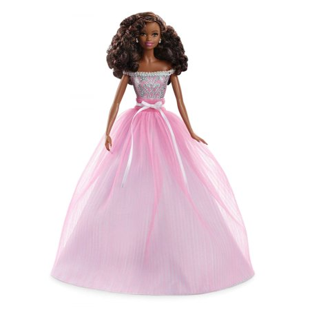 Birthday Wishes Barbie Doll, Brunette Hair, Wearing Pink Party Dress (Dress Up Halloween Barbie)
