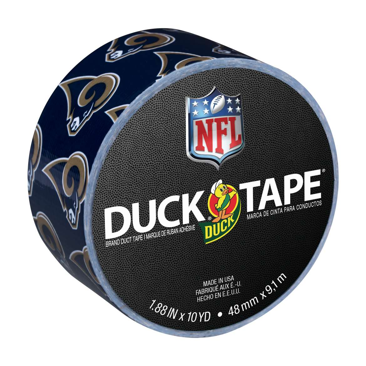 "Duck Brand NFL Duck Tape, 1.88"" x 10 yards, Los Angeles Rams"