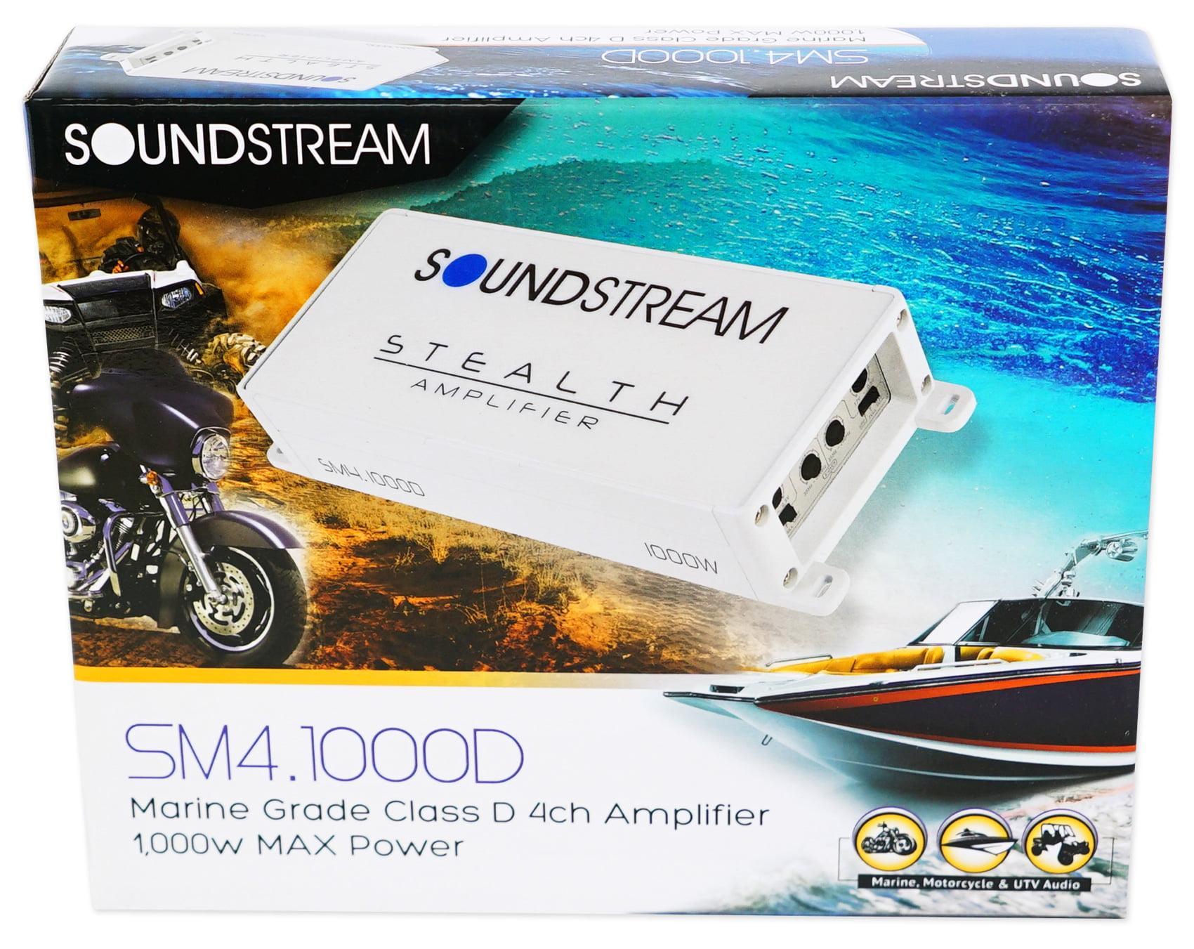 SOUNDSTREAM SM4.1000D 4-Channel 1000w Amplifier Amp For Polaris RZR//ATV//UTV//Cart