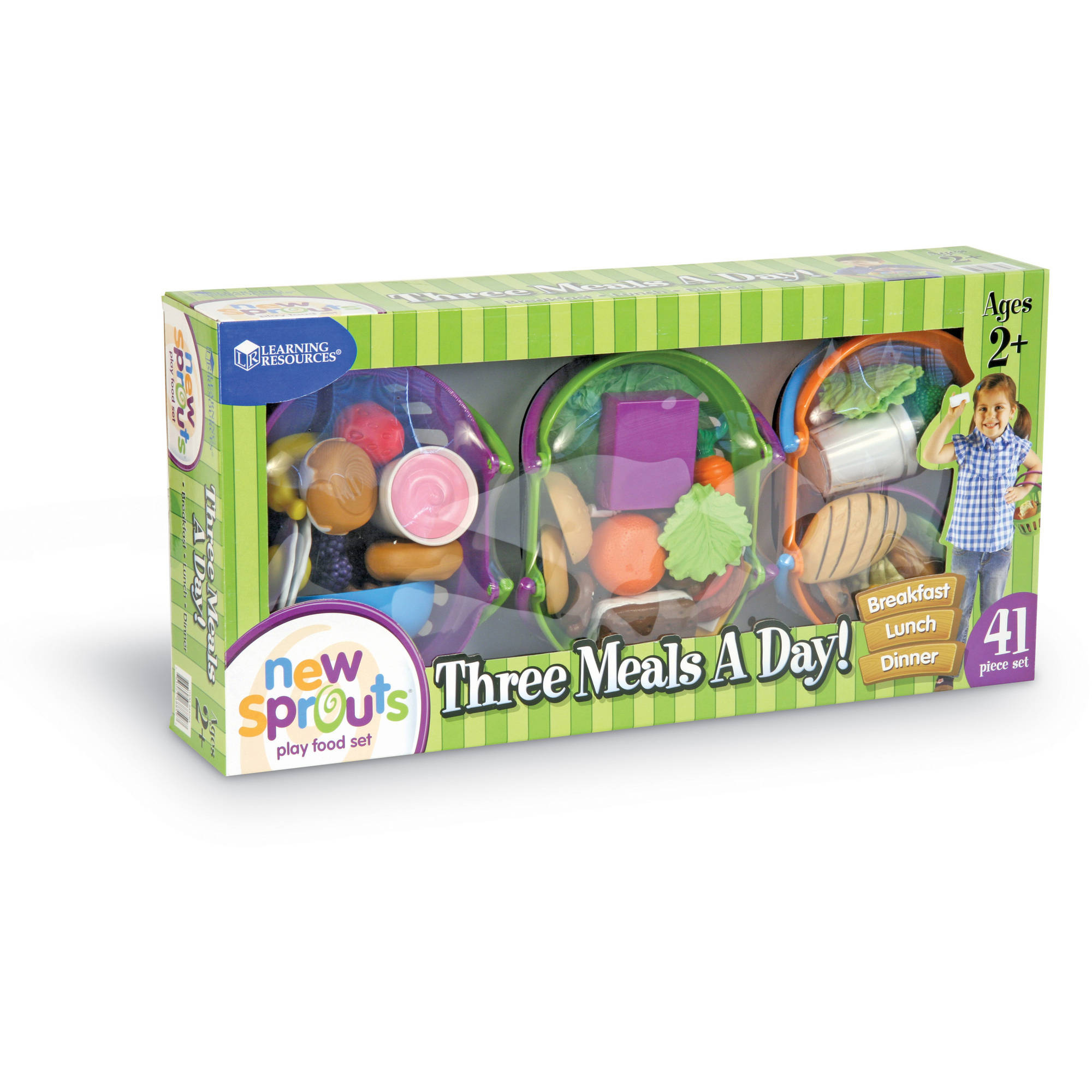 Learning Resources New Sprouts 3 Meals A Day Play Food Set