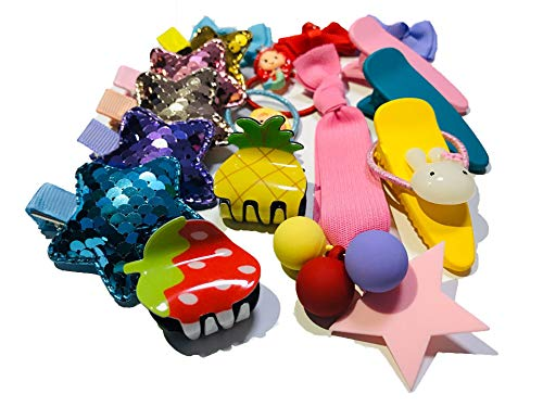 20pcs Girl Snap Hair Clips Baby Hairpins Colorful Metal Barrettes Accessories-WI