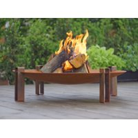 "Curonian Alna Fire Pit 31.5"" Solid Carbon Steel"