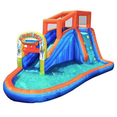 Banzai Plummet Falls Adventure Inflatable Backyard Kids ...