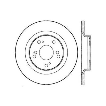 StopTech 00-09 S2000 Slotted & Drilled Right Rear Rotor