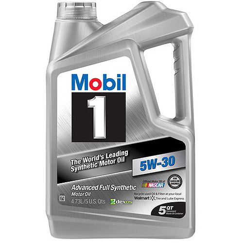 Mobil 1 5W-30  Full Synthetic Motor Oil, 5 qt.