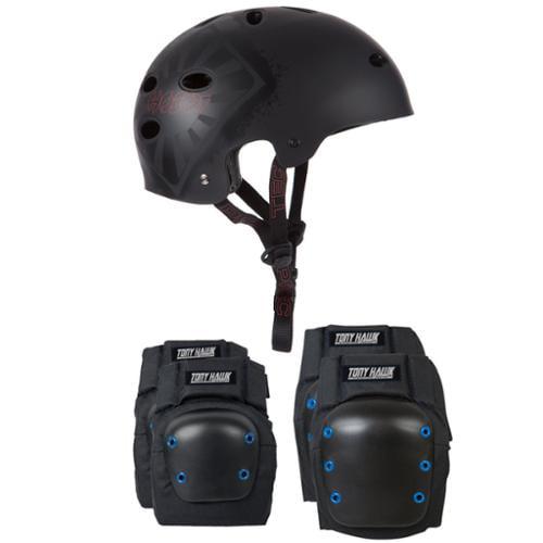 Pro Tec Skateboard Helmet CLASSIC SKATE HOSOI Size Medium + TONY HAWK PADS