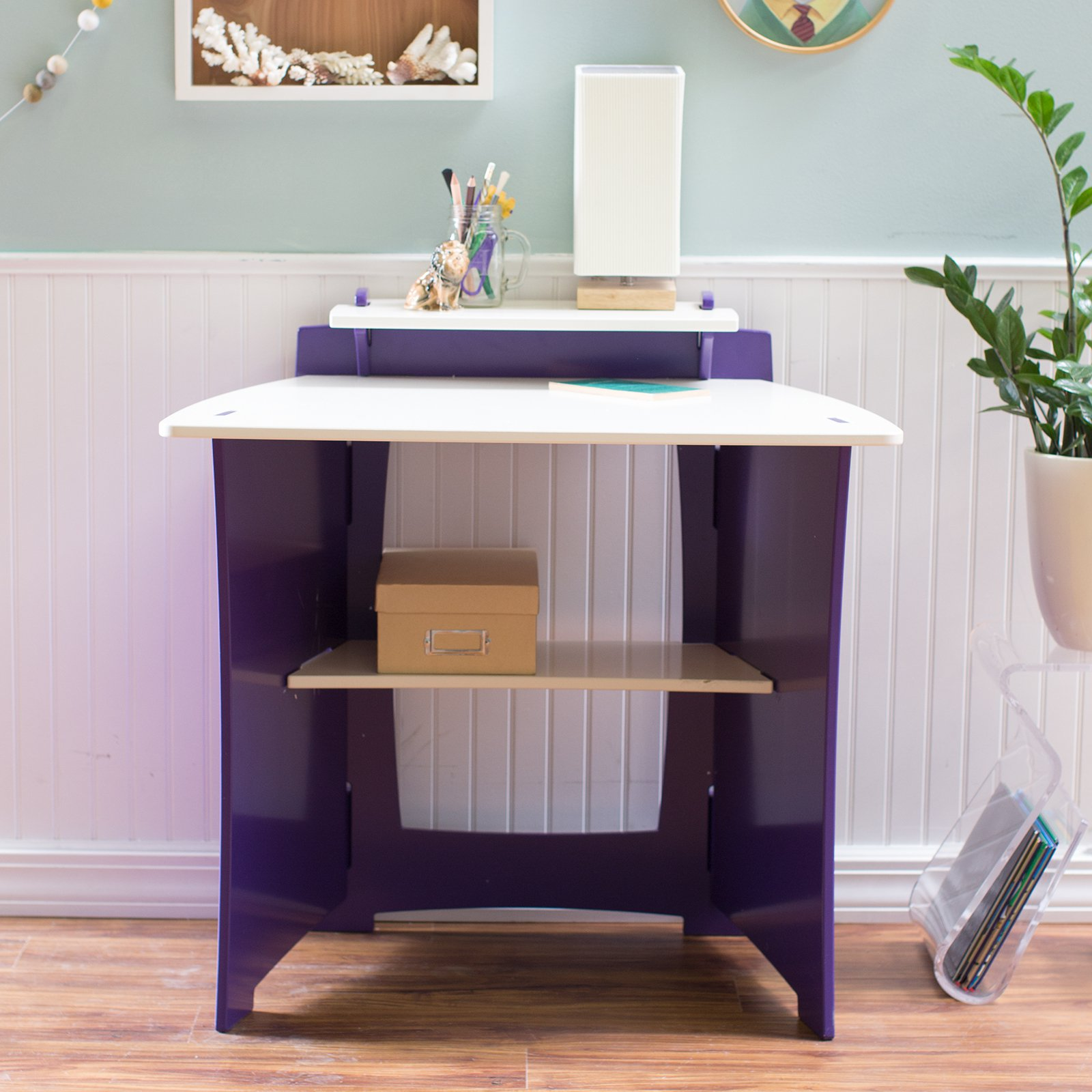 Legare Select Kids' Desk, Purple and White