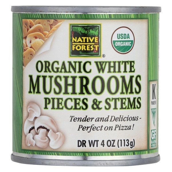 Native Forest Organic Mushrooms - Pieces And Stems - Pack of 12 - 4 Oz.