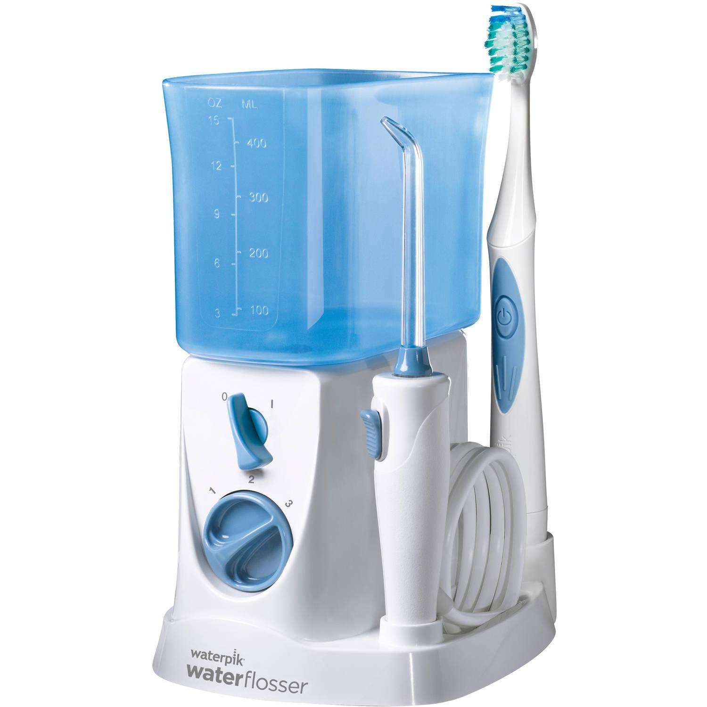 Waterpik 2-in-1 Water Flosser and Nano-Sonic Toothbrush Combo WP-700