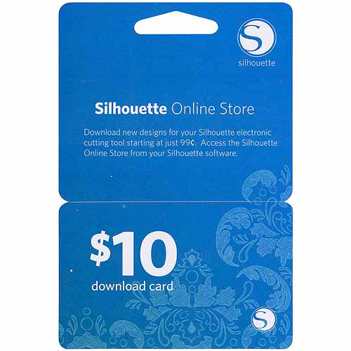 Silhouette $10 Download Card
