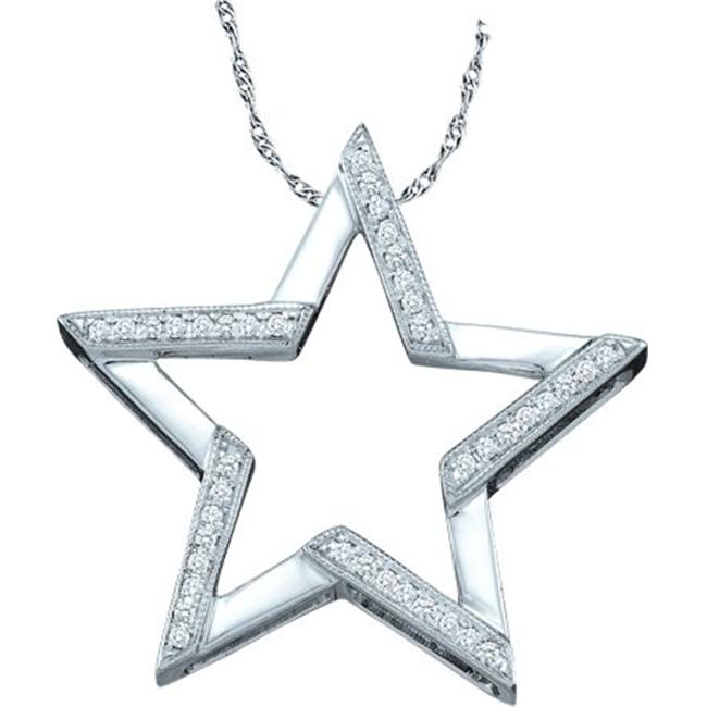Gold and Diamonds PF2696-W 0.10CT-DIA STAR PENDANT- Size 7