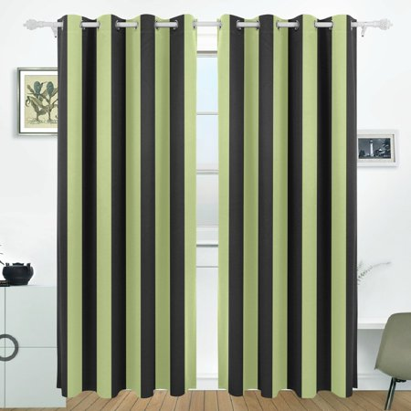 POPCreation Halloween Strips Pattern Window Curtain Blackout Curtains Darkening Thermal Blind Curtain for Bedroom Living Room,2 Panel (52Wx84L - Halloween 4 Panel
