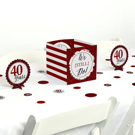 50th Wedding Anniversary Table Centerpieces (We Still Do - 40th Wedding Anniversary - Party Centerpiece & Table Decoration)