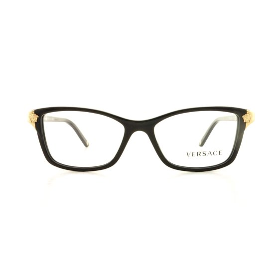 83d4590f36 VERSACE Eyeglasses VE3156 GB1 Black 53MM - Walmart.com