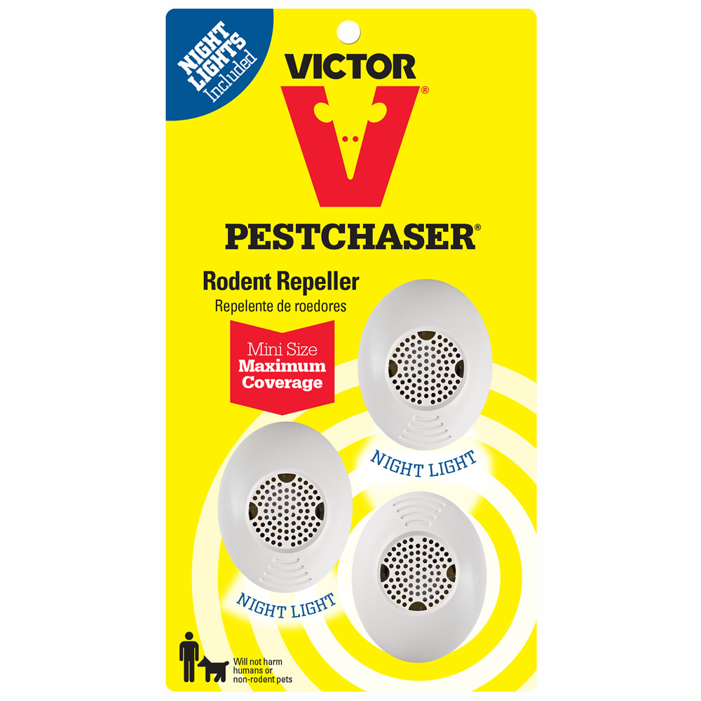 Victor 3-Pack Mini PestChaser Rodent Repeller with Nightlight