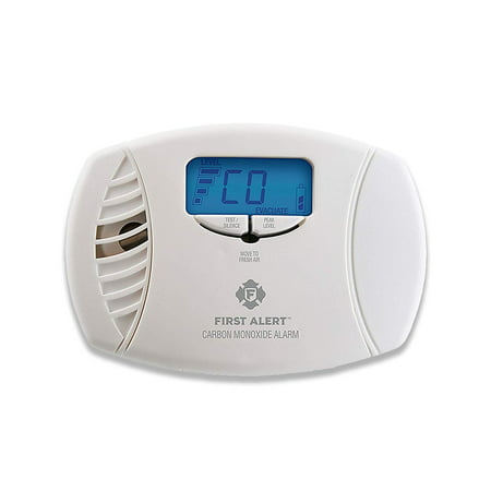 CO615 Dual-Power Plug-In Carbon Monoxide Detector with Battery Backup and Digital Display, Keep your family safe with this digital-display, plug-in.., By First