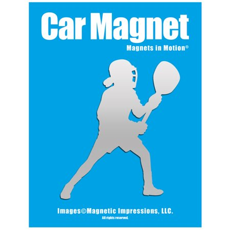 Lacrosse Goalie Female Car Magnet