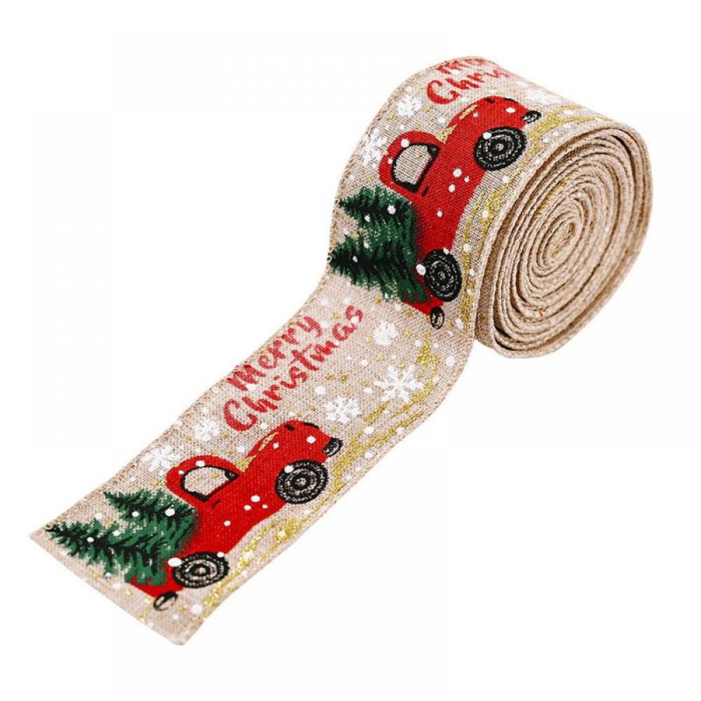 Classic Christmas Holiday DIY Fabric Swirl Ribbon Burlap ...