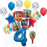Paw Patrol Party Supplies Chase, Marshal and friends 4th Birthday Balloon Bouquet Decorations