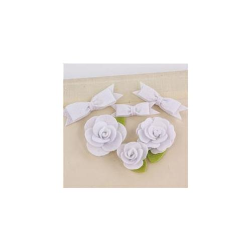 Prima Flowers MARC-57706 Marcelle Fabric Flowers and Bows 1. 25 inch To 2 inch 3 Each-Spotlight