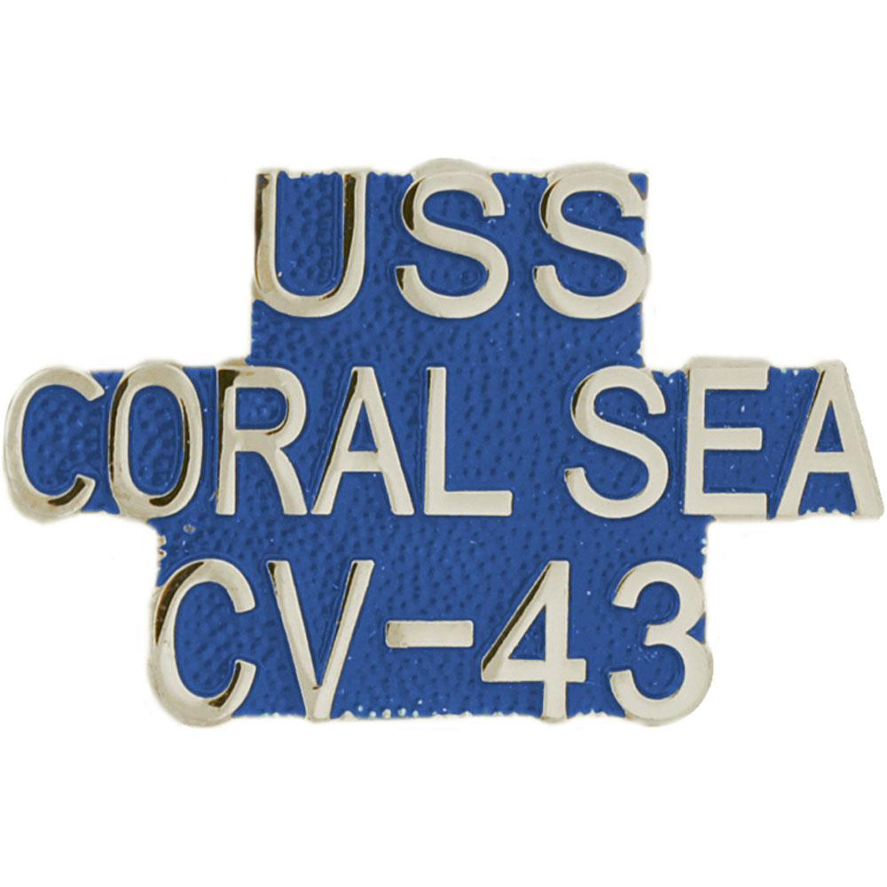 "U.S. Navy USS Coral Sea CV-43 Pin 1"" by"