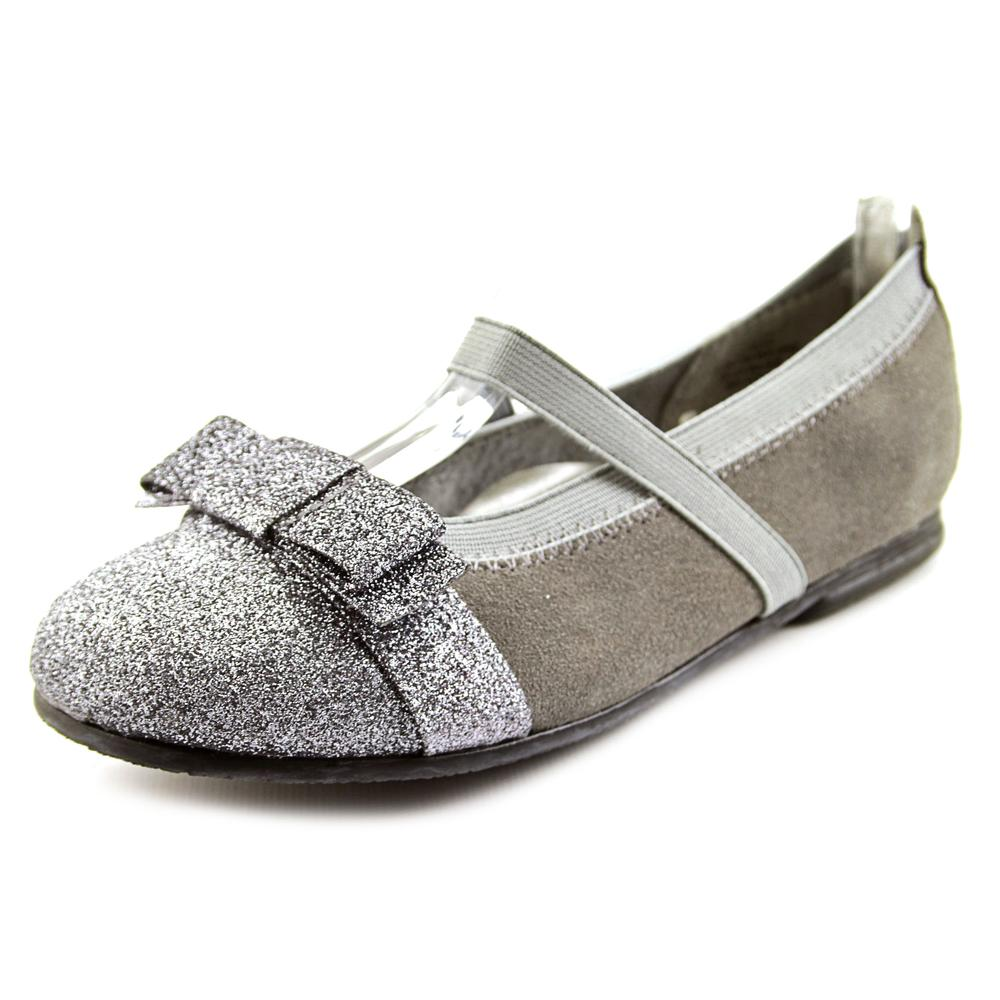Balleto by Jumping Jacks Sparkle  N Round Toe Leather  Ballet Flats
