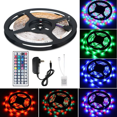 TSV 16.4Ft 300 LED RGB Muliti Color Bias Lighting Changing RGB LED TV Backlight with 44 Key IR Remote Control For TV HDTV Monitor Home Theater Accent lighting Kit](led light led light)