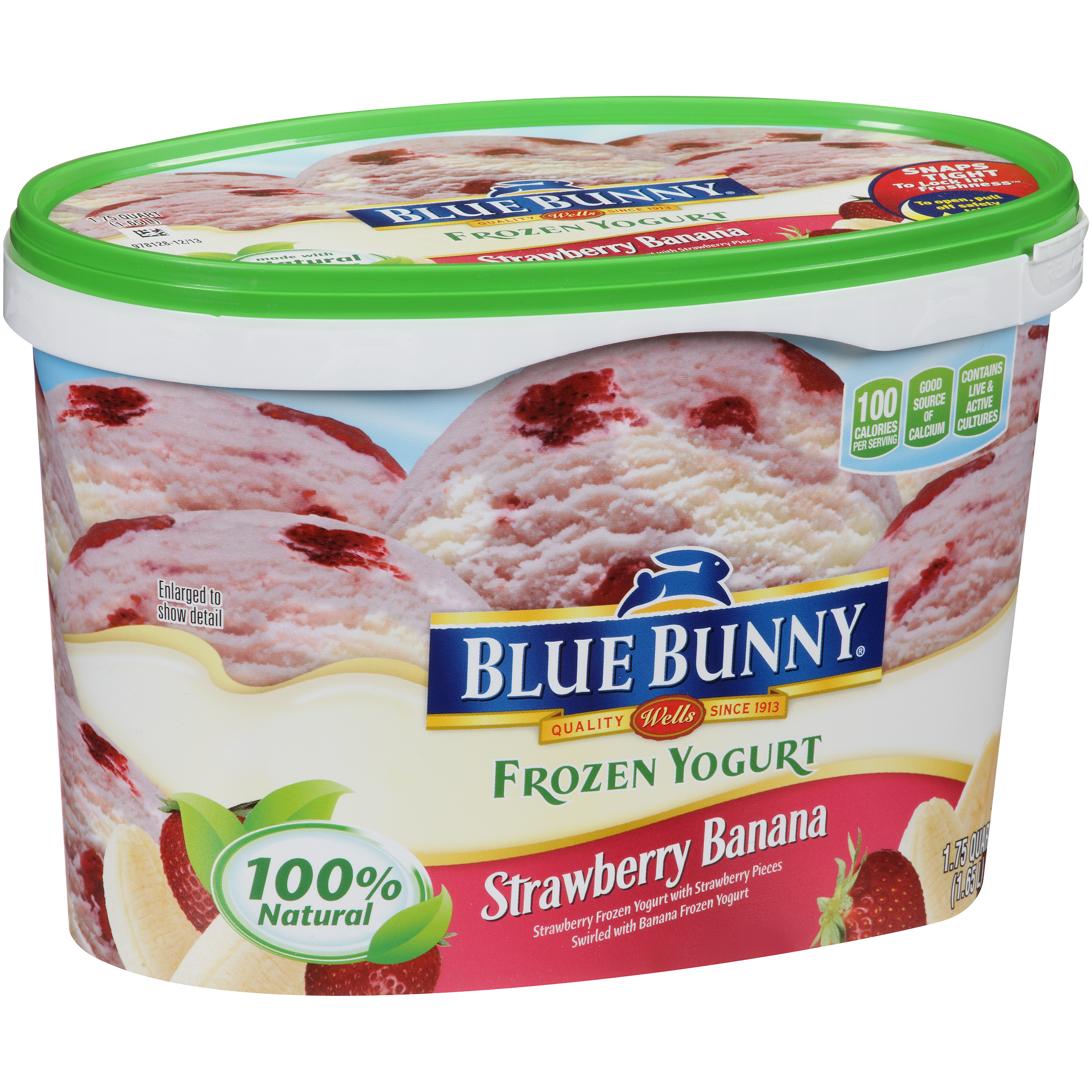 Blue Bunny® Strawberry Banana Frozen Yogurt 1.75 qt. Tub
