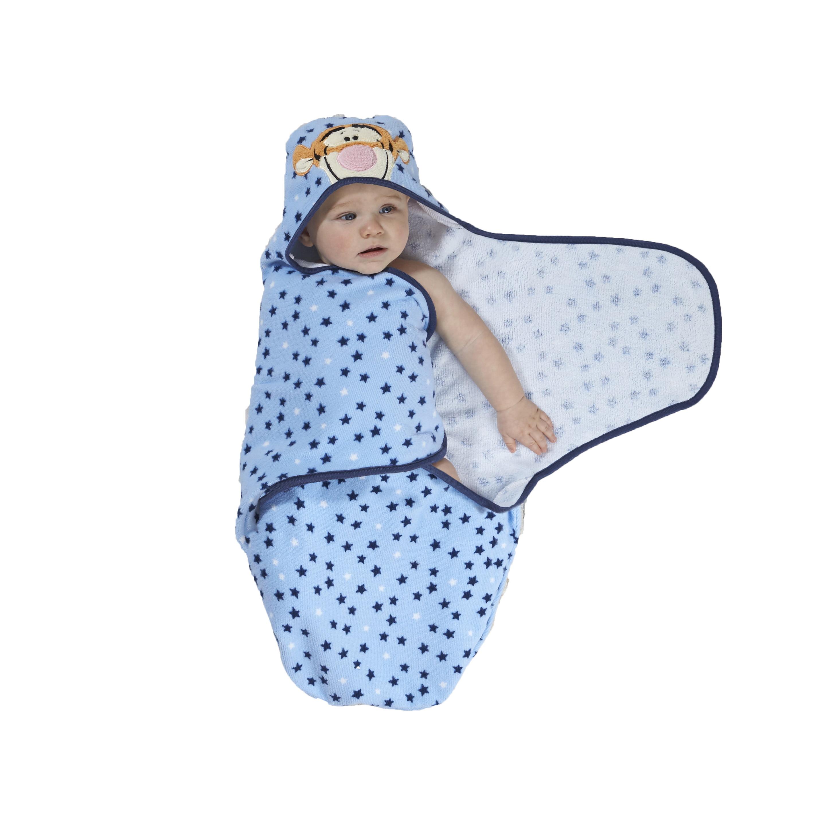 Disney Baby Tigger Embroidered Hooded Bath Swaddle - Walmart.com