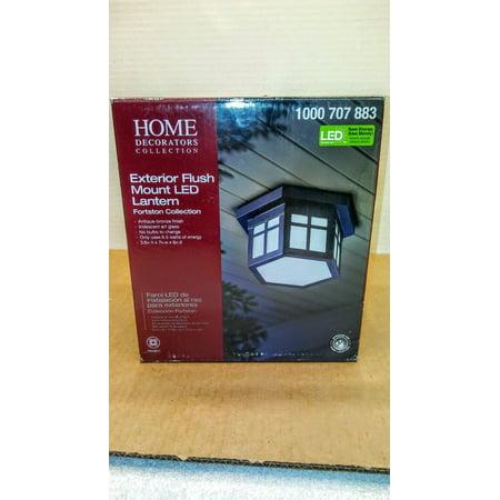 Home Decorators Collection LED Outdoor Hanging Antique Bronze Flush Mount (Store
