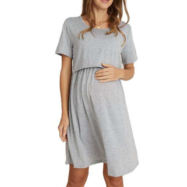 Ma Baby Casual Maternity Dresses Women Polka Dot Pregnancy Dress Summer Short Sleeve Dresses Walmart Com Walmart Com